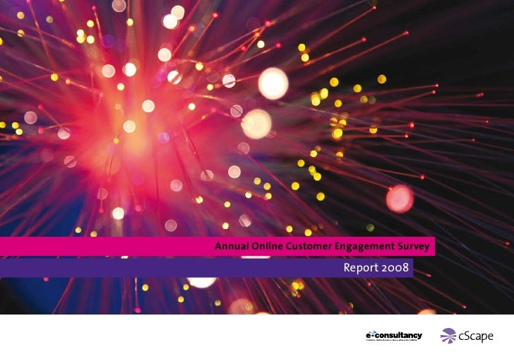 2nd Annual Online Customer Engagement Survey Report 2008