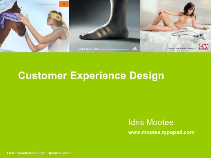 Customer Experience Design Talk Idris Mootee