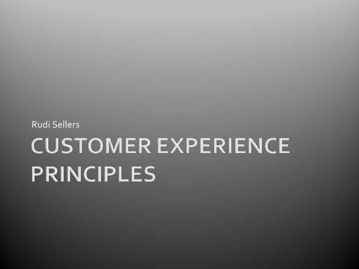 Customer Experience Principles V2