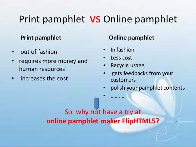 online pamphlet