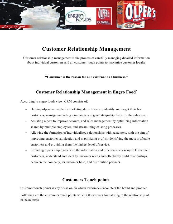 Customer Relationship Management   Customer relationship management is the process of carefully managing detailed informat...