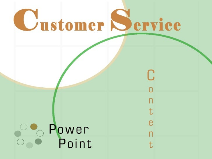Customer Service Business PowerPoint Template 0810