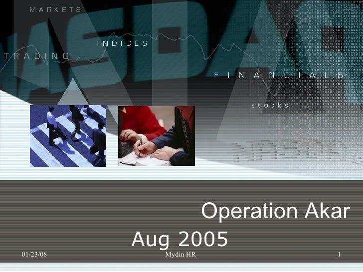 Operation Akar Aug  2005