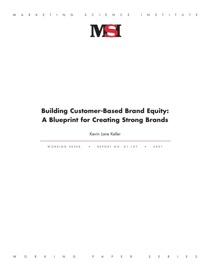 Customer basedbrandequitymodel