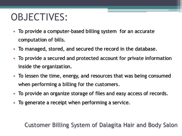 Related thesis about billing system