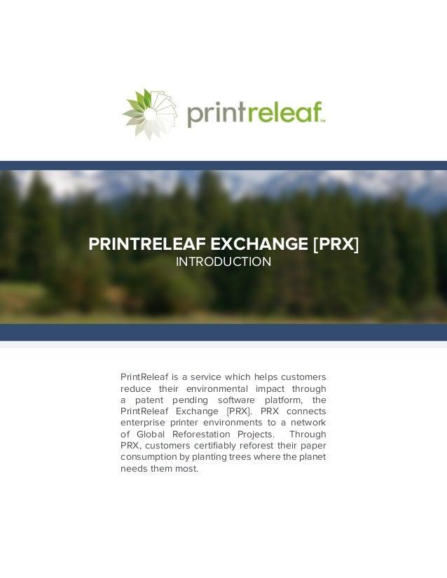 PrintReleaf Customer Brochure