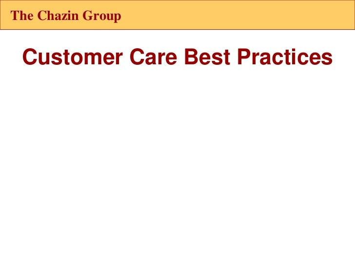 Customer care 2011