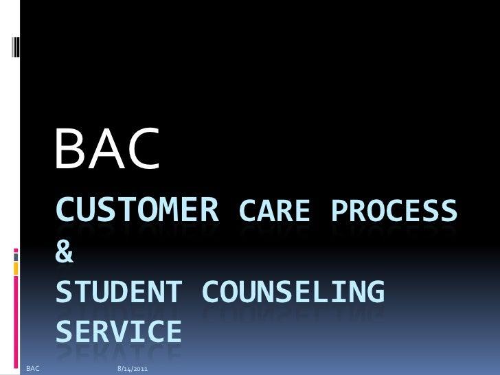 Customer care process at Educational sector