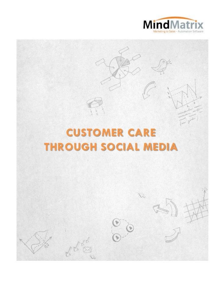 CUSTOMER CARETHROUGH SOCIAL MEDIA
