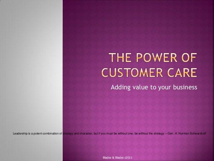 Customer Care Workshop 2011