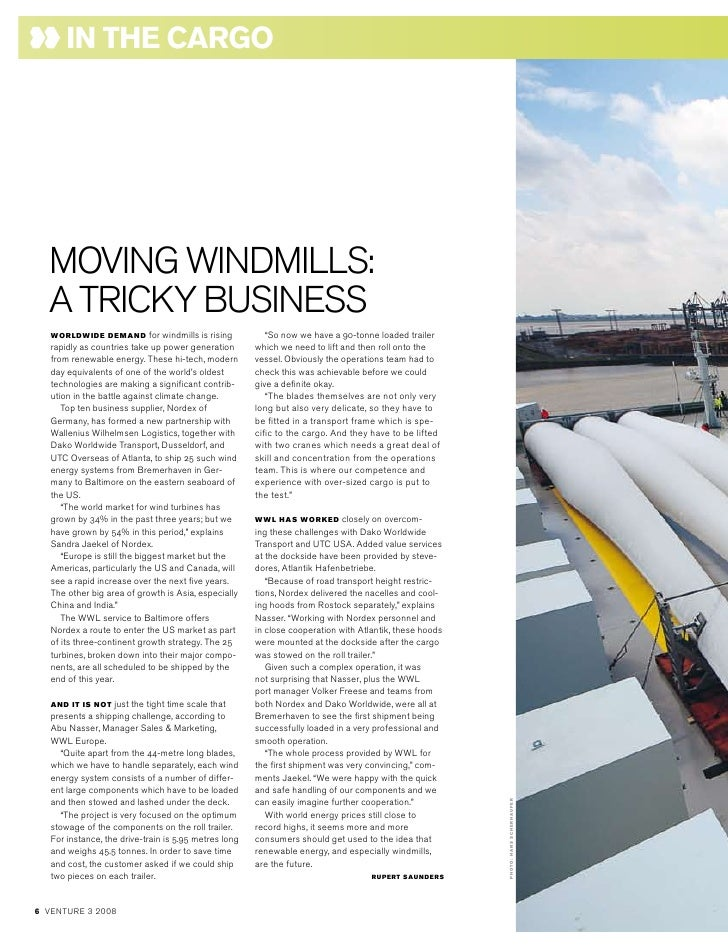 "in the cArgo       MOViNGWiNdMiLLS:   ATRiCKyBUSiNESS    WorldWide deMAnd           for windmills is rising      ""So now w..."
