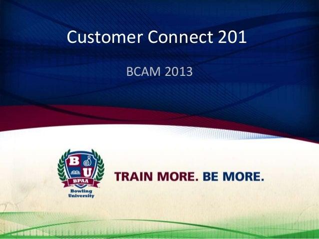 Customer Connect 201 BCAM 2013