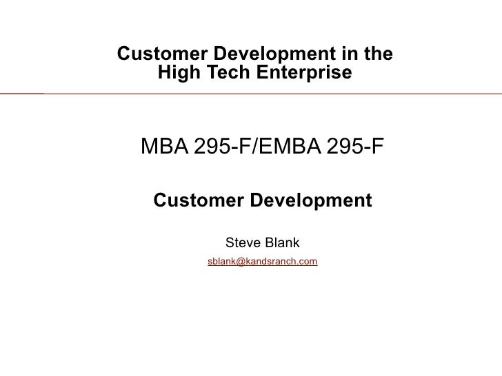 Customer Development 3: Introduction