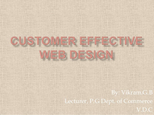 Customer effective web design new