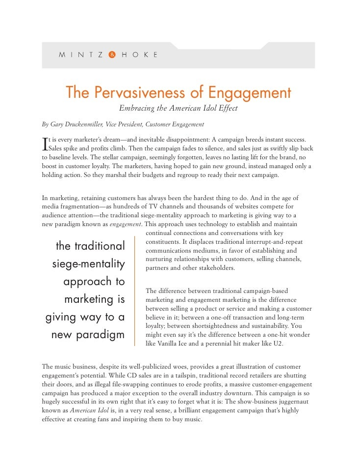 Customer Engagement White Paper
