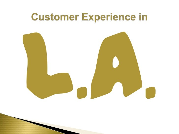 L.A.<br />Customer Experience in <br />