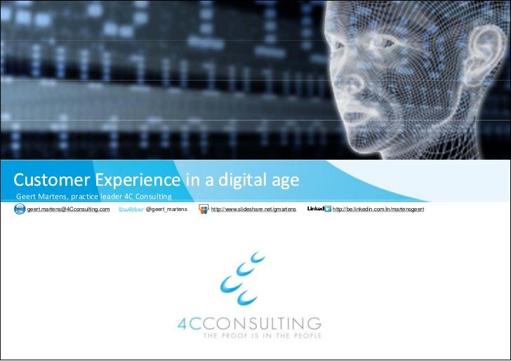 Customer experience in a digital age (preview)