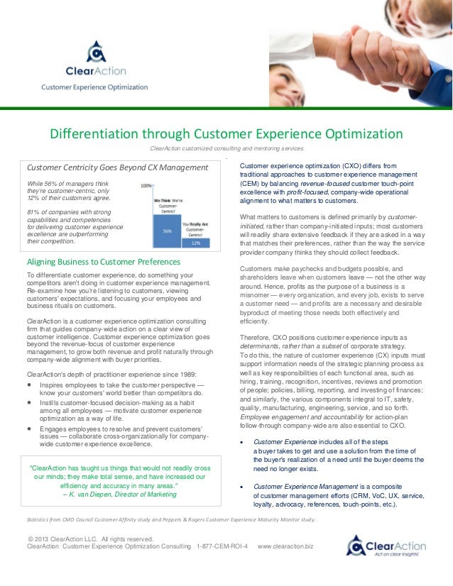 Customer Experience Optimization Consulting