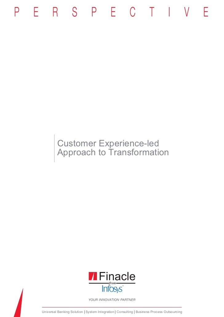 Customer Experience led Approach to Transformation