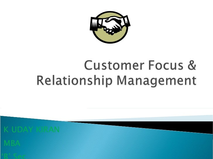 customer focus and relationship management images