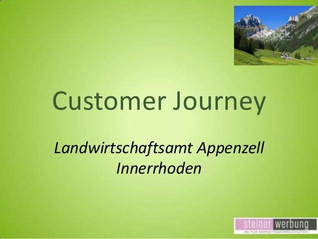 Customer Journey Landwirtschaftsamt Appenzell Innerrhoden