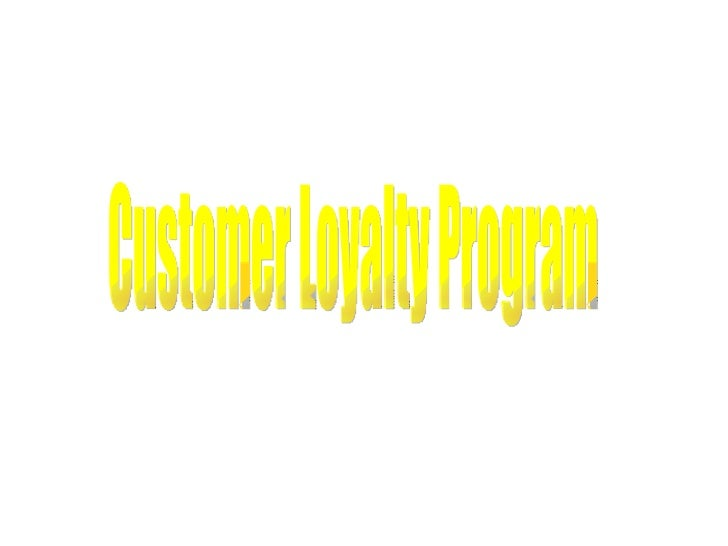 Customerloyaltyprogram