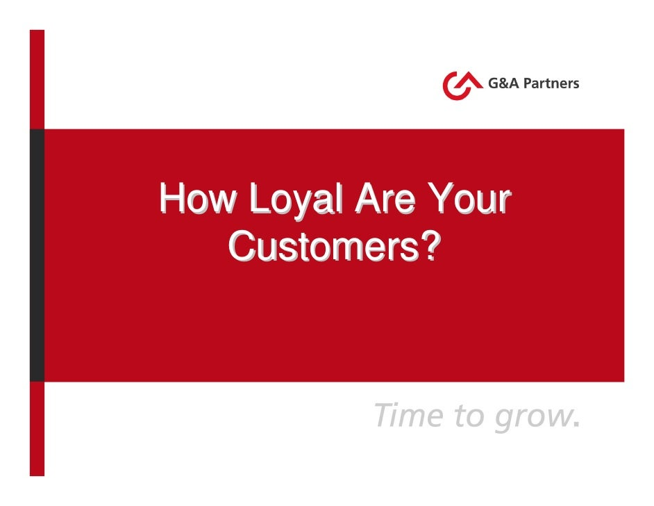 How Loyal Are Your Customers? - webinar