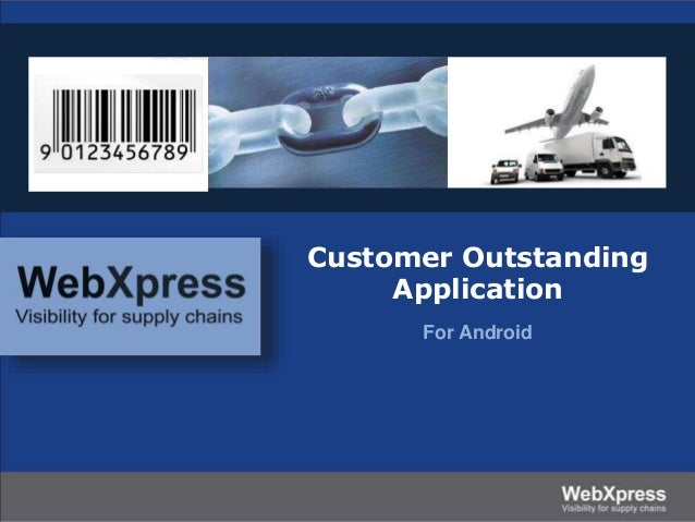 Customer Outstanding Application for Android