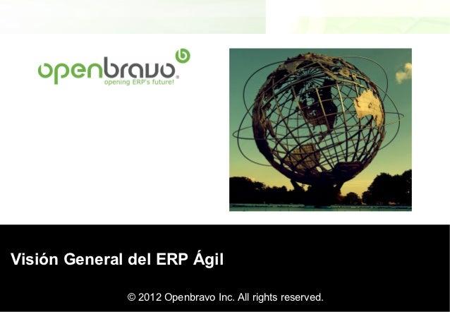 Presentación OpenBravo en OpenExpo ERP