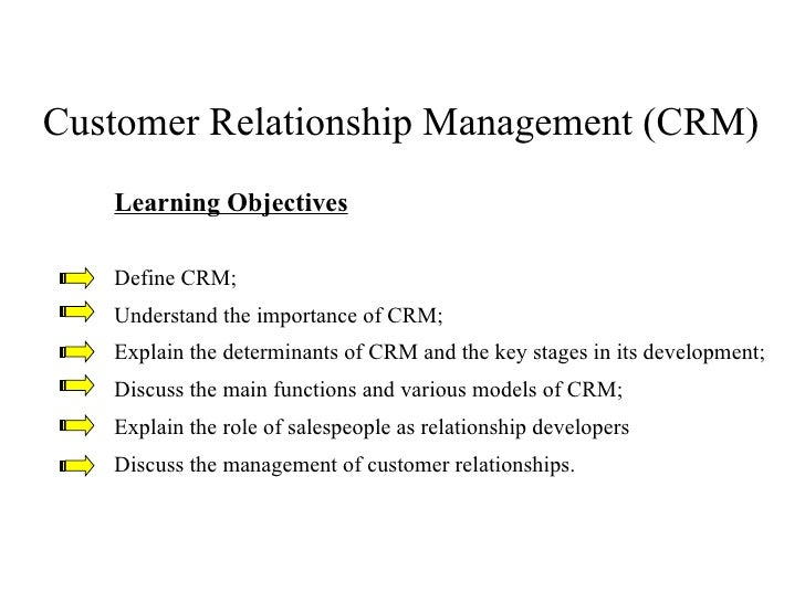 Customer relationship management11