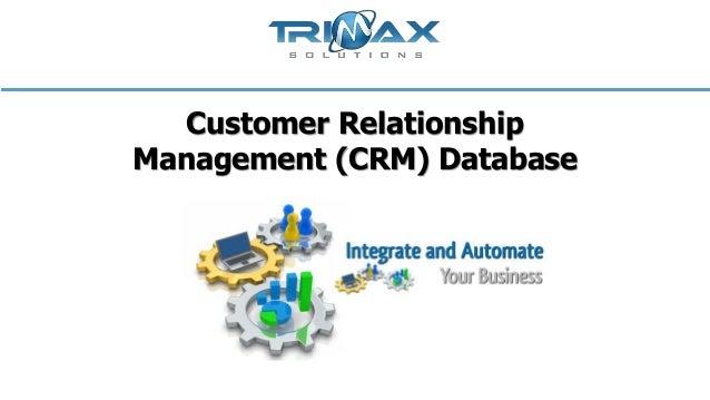 Customer relationship management crm database