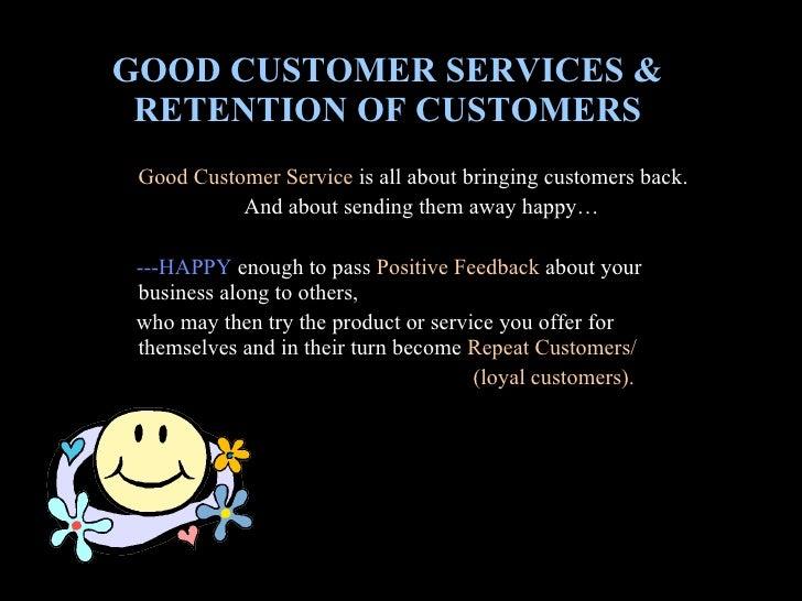 Importance of good customer service essay