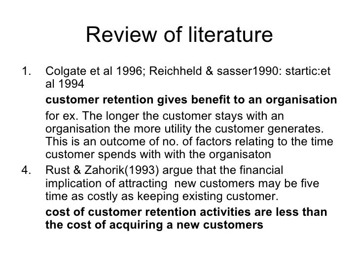 Literature review of customer satisfaction