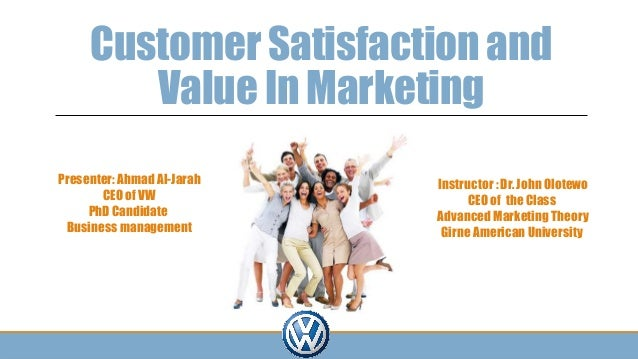 Customer satisfaction definition in marketing
