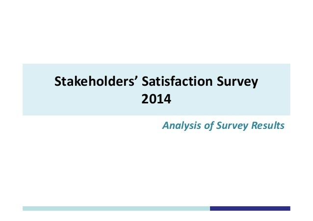 analysis of customer satisfaction survey Next article in issue: discussion of 'modern analysis of customer satisfaction surveys: comparison of models and integrated analysis' by kennett and salini.