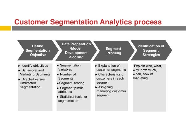 ... customer flows and dissemation into segment driven customer goals