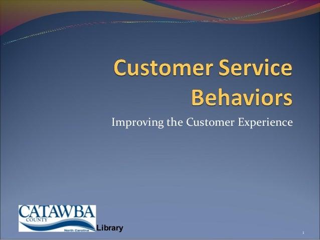 Customer service behaviors 11 2012