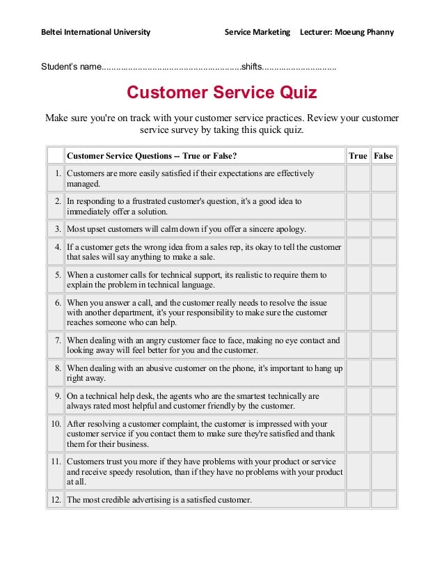 customer service quiz Get hired for customer service roles with practice interview questions, assessment test and situational judgment tests from jobtestprep.