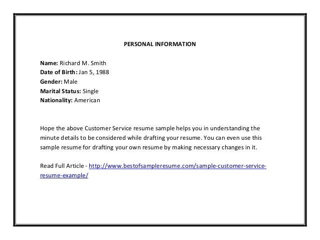 customer service resume sle