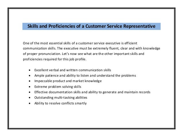 Skills and abilities resume examples customer service