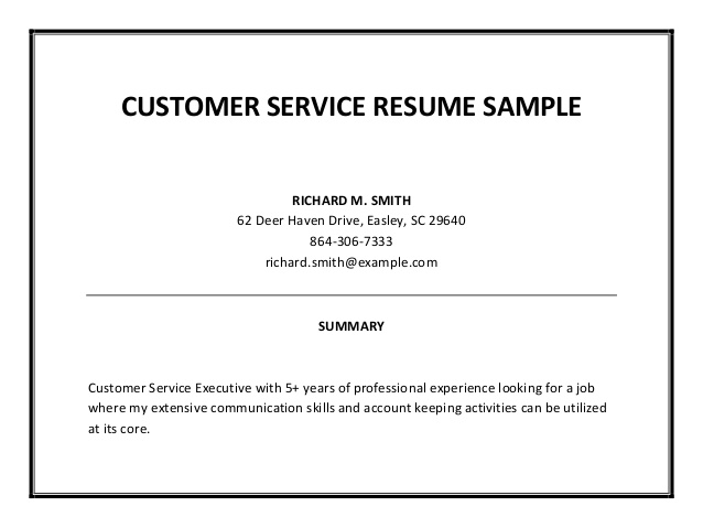 Resume Summaries Examples Resume Examples  Job Summaries