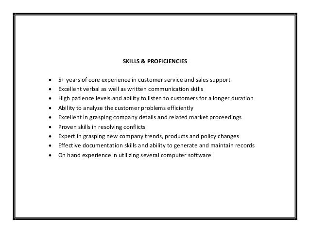 verbal and written communication skills resume customer