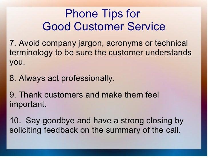 Customer Service Tips Phone Phone Tips For Good Customer