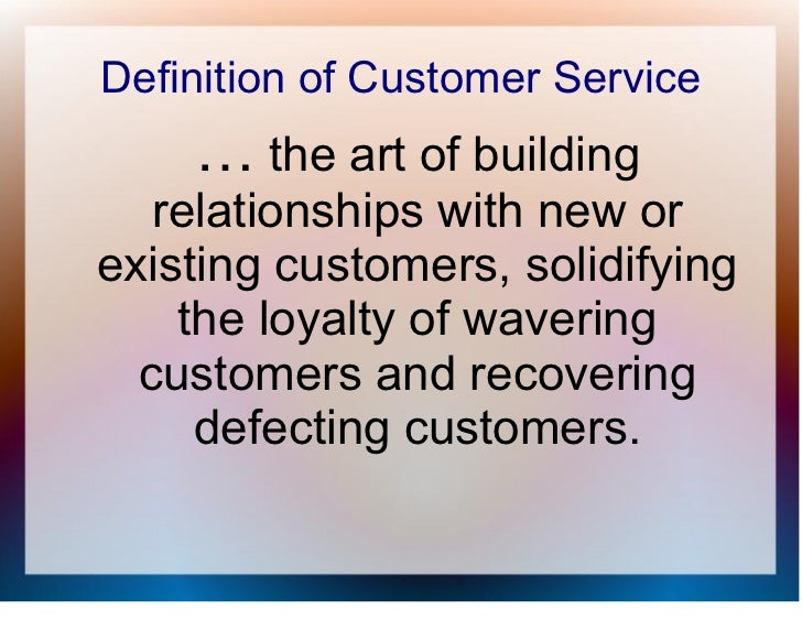 Definition of customer service excellence