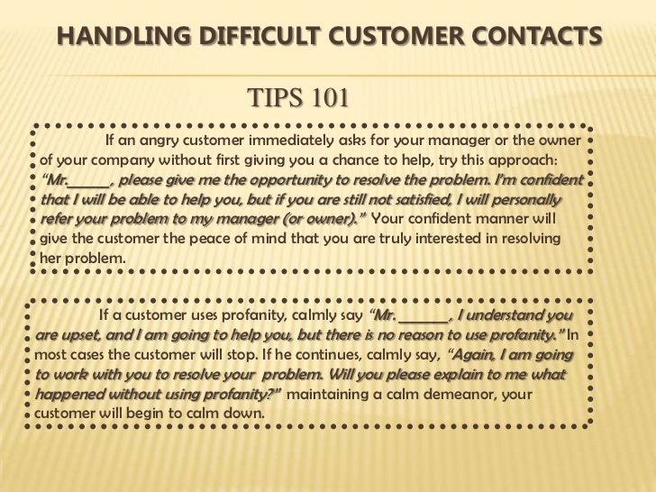 customer service management training 101 pdf