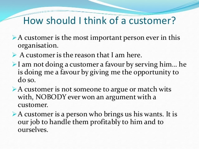 Essay on why customer service is important