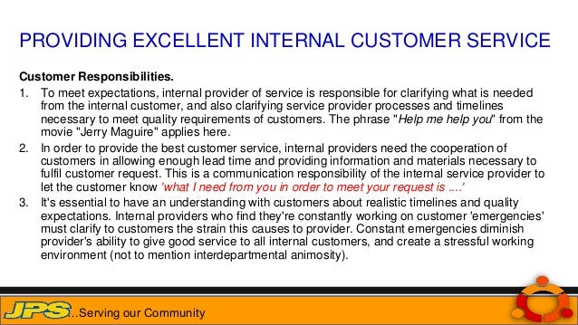 Internal customer service