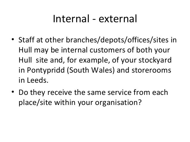 Internal and external customers definition