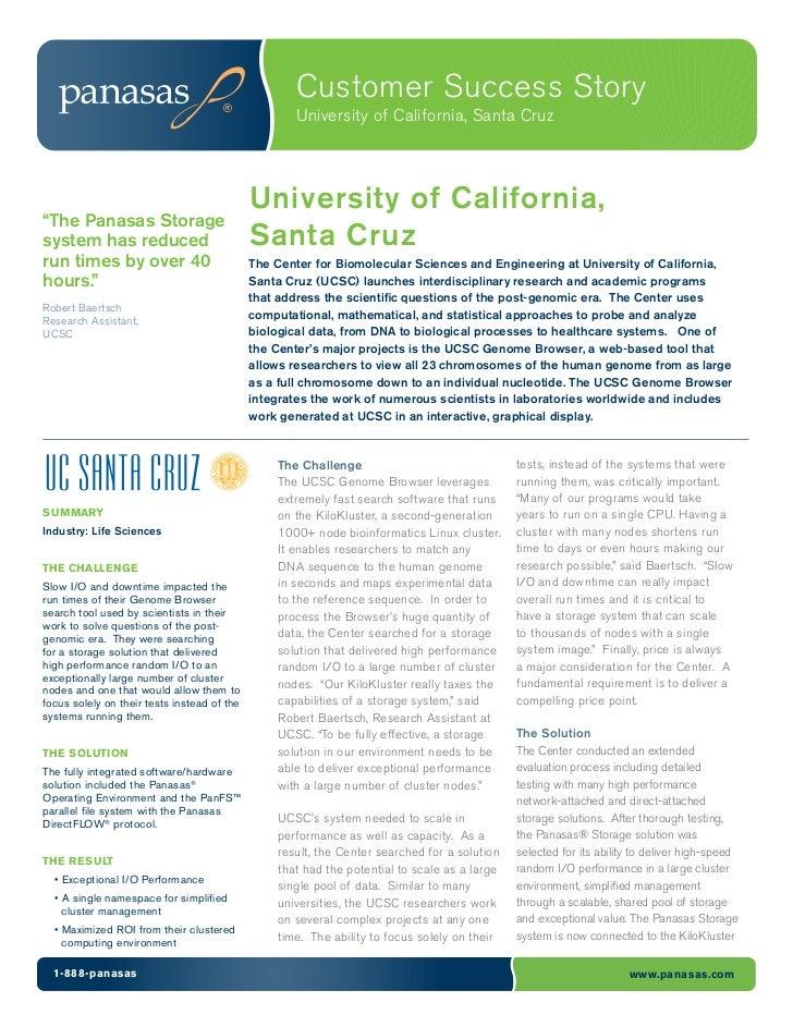 Customer Success Story                                                    University of California, Santa Cruz            ...