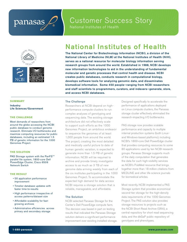 Customer Success Story                                             National Institutes of Health              L INST      ...